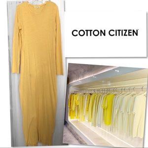 Cotton Citizen Dresses - 🆕 COTTON CITIZEN HEMP COTTON YELLOW MAXI DRESS S